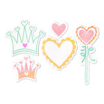 Sizzix - Framelits - Die Cutting Template and Clear Acrylic Stamp Set - Princess