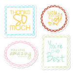 Sizzix - Framelits - Die Cutting Template and Clear Acrylic Stamp Set - Word Labels