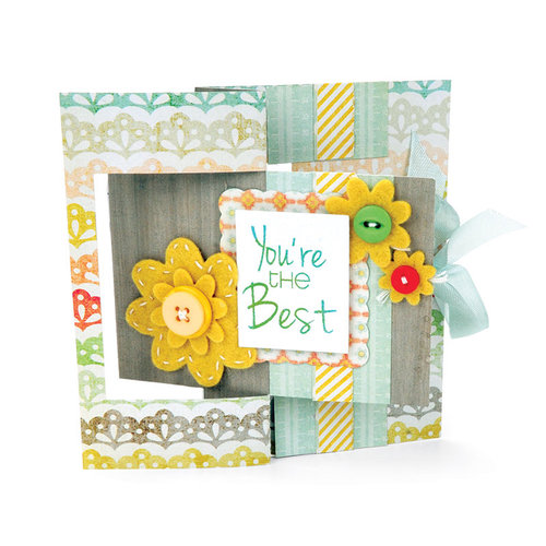 Sizzix - Movers and Shapers Die - Large - Card, Rectangle Flip-its