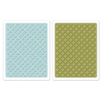 Sizzix - Textured Impressions - Embossing Folders - Dotted Squares Set