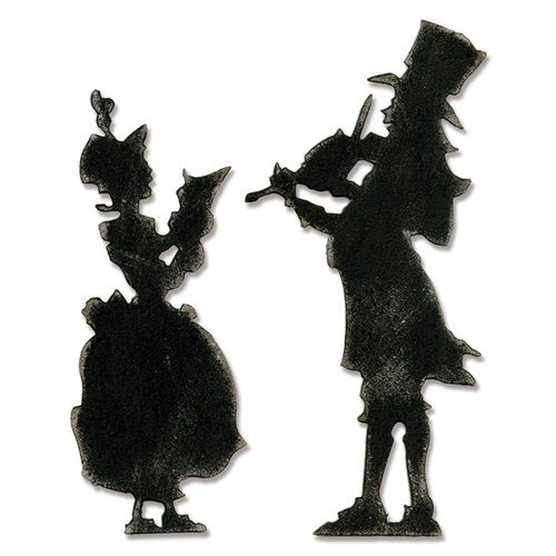 Sizzix - Tim Holtz - Alterations Collection - Bigz Die - Victorian Carolers