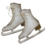 Sizzix - Tim Holtz - Alterations Collection - Bigz Die - Ice Skates