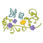 Sizzix - Thinlits Die - Die Cutting Template - Butterflies and Flower Vine