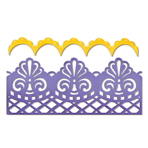Sizzix - Thinlits Die - Damask and Scallop Borders