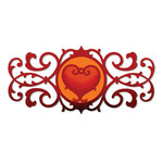 Sizzix - Thinlits Die - Decorative Border and Heart