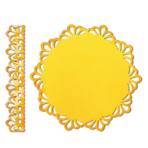 Sizzix - Thinlits Die - Doily and Doily Border