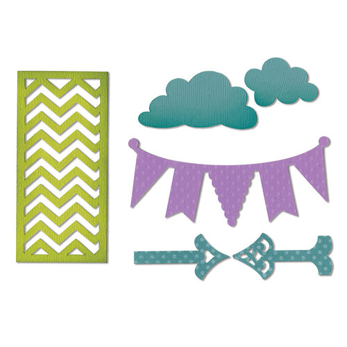 Sizzix - Thinlits Die - Arrows, Banners, Chevrons and Clouds