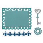 Sizzix - Thinlits Die - Border, Label, Medallion and Key
