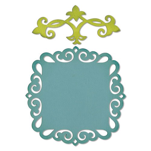 Sizzix - Thinlits Die - Die Cutting Template - Decorative Accent and Label