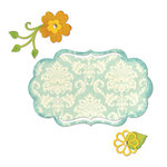 Sizzix - Thinlits Die - Die Cutting Template - Fancy Label and Flowers