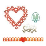 Sizzix - Thinlits Die - Love Birds and Hearts