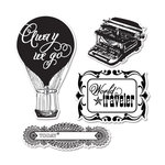 Sizzix - Echo Park - Framelits - Die Cutting Template and Clear Acrylic Stamp Set - Everyday Eclectic