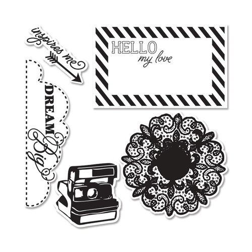 Sizzix - Echo Park - Framelits - Die Cutting Template and Clear Acrylic Stamp Set - Everyday Eclectic 2