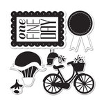 Sizzix - Echo Park - Framelits - Die Cutting Template and Clear Acrylic Stamp Set - Sweet Day