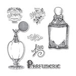 Sizzix - Graphic 45 - Framelits Die and Repositionable Rubber Stamp Set - Parfumerie