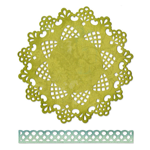 Sizzix - Thinlits Die - Doily and Doily Border 2