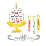 Sizzix - Thinlits Die - Birthday Candles, Cake and Crown