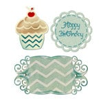Sizzix - Thinlits Die - Birthday Cupcake and Labels
