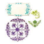 Sizzix - Thinlits Die - Ornate Flowers and Tag