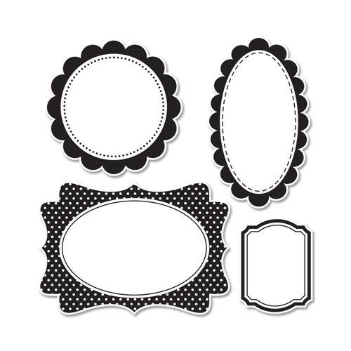 Sizzix - Doodlebug - Framelits Die and Clear Acrylic Stamp Set - Frames