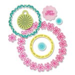 Sizzix Framelits Die and Clear Acrylic Stamps - Circles and Tags
