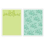 Sizzix - Textured Impressions - Embossing Folders - Arbor and Garden Roses