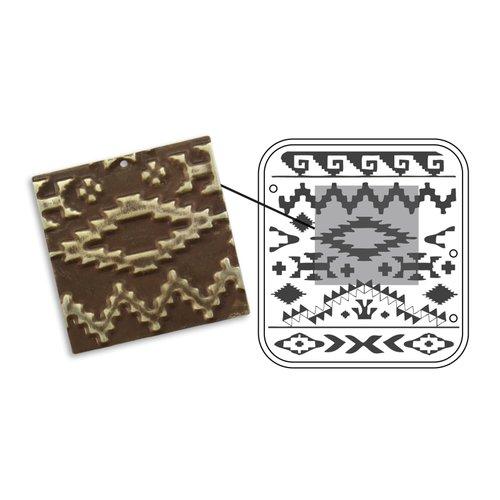 Sizzix - Vintaj - Embossing Folders - DecoEmboss Die - Navajo Textile