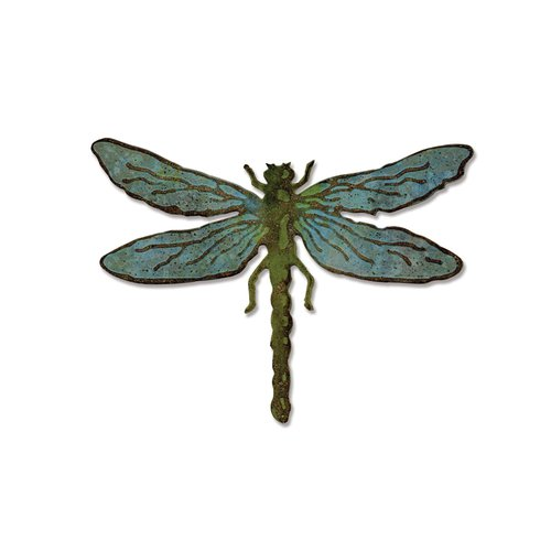 Sizzix - Tim Holtz - Alterations Collection - Bigz Die and Texture Fades - Layered Dragonfly