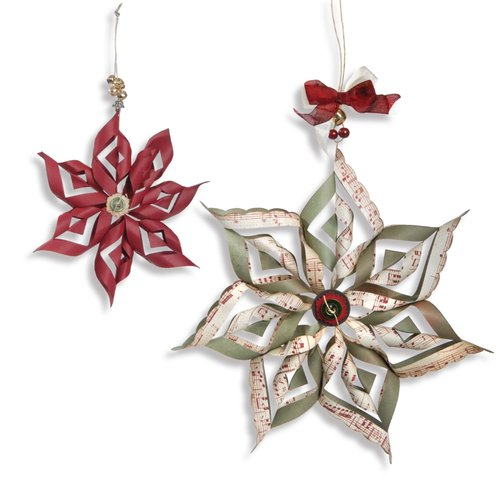 Sizzix - Winter Collection - Christmas - Thinlits Die - Ornaments, Scallop Stars