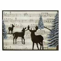 Sizzix - Thinlits Die - Card Front, Winter Deer