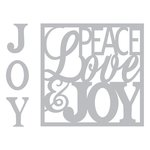 Sizzix - Winter Collection - Christmas - Thinlits Die - Card Front, Peace, Love and Joy