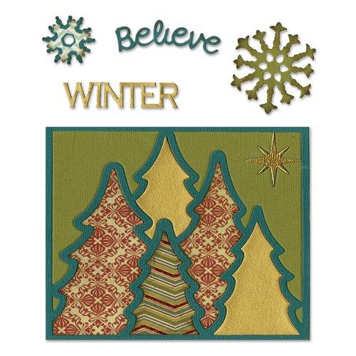 Sizzix - Thinlits Die - Card Front, Winter