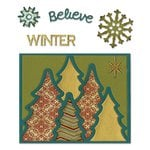 Sizzix - Thinlits Die - Card Front, Winter
