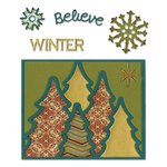 Sizzix - Winter Collection - Christmas - Thinlits Die - Card Front, Winter