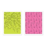 Sizzix - Favorite Things Collection - Textured Impressions - Embossing Folders - Floral Tapestry and Sweet Blooms Set