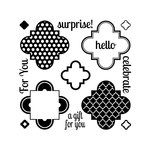 Sizzix - Framelits Die and Clear Acrylic Stamp Set - Playful