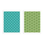 Sizzix - Textured Impressions - Embossing Folders - Playful and Flower Circle Set