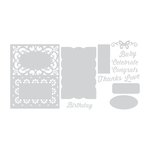 Sizzix - Thinlits Die - Gift Card Box Embellishments
