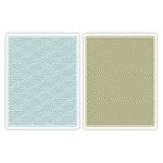 Sizzix - Echo Park - Textured Impressions - Embossing Folders - Hexagons and Chevrons Set