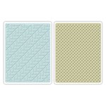 Sizzix - Echo Park - Textured Impressions - Embossing Folders - Houndstooth and Dots Set