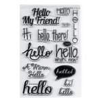 Sizzix - Clear Acrylic Stamps - Hello