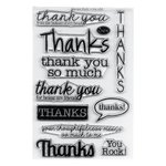 Sizzix - Clear Acrylic Stamps - Thanks