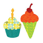 Sizzix - Bigz L Die - Cupcake or Ice Cream Cone with Cherry and Candle