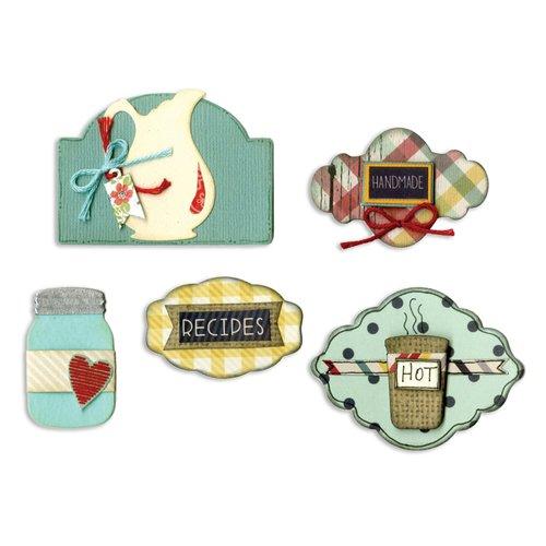 Sizzix - Vintage Kitchen Collection - Framelits Die - Labels, Kitchen