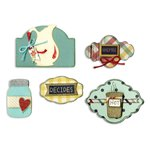 Sizzix - Vintage Kitchen Collection - Framelits Die - Labels, Kitchen