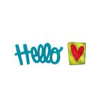 Sizzix - Homegrown and Handmade Collection - Originals Die - Phrase, Hello 2