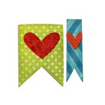 Sizzix - Homegrown and Handmade Collection - Bigz Die - Banners and Hearts