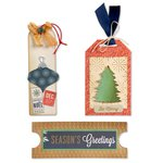 Sizzix - BasicGrey - 25th and Pine Collection - Christmas - Bigz L Die - Ticket and Tags