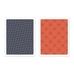 Sizzix - BasicGrey - Textured Impressions - 25th and Pine Collection - Christmas - Embossing Folders - Yuletide Boulevard Set