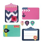 Sizzix - Life Made Simple Collection - Thinlits Die - Pocket Card and Geo Tags